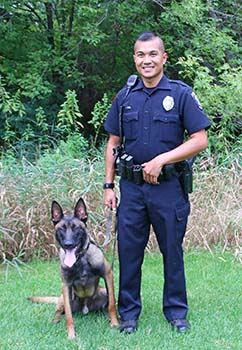 K9 team Officer Kim and Ike